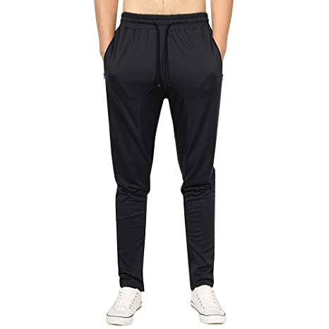 cf05a805144e13 Image Unavailable. Image not available for. Color: Allywit Mens Casual Cotton  Zipper Sports Trousers Joggers Sweatpants Pants ...