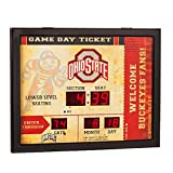 ohio state ticket frame - Team Sports America NCAA Bluetooth Scoreboard Wall Clock, Ohio State Buckeyes