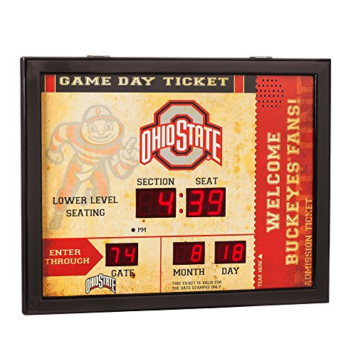 - Team Sports America NCAA Bluetooth Scoreboard Wall Clock, Ohio State Buckeyes