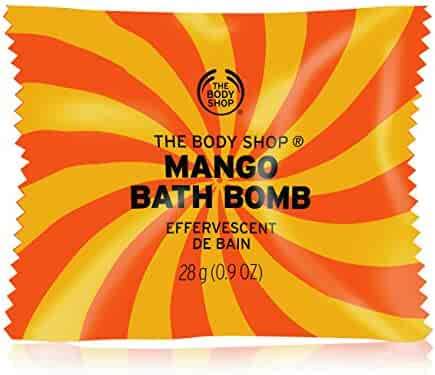 The Body Shop Mango Bath Bomb, Fizzing Bubble Bath, 28g
