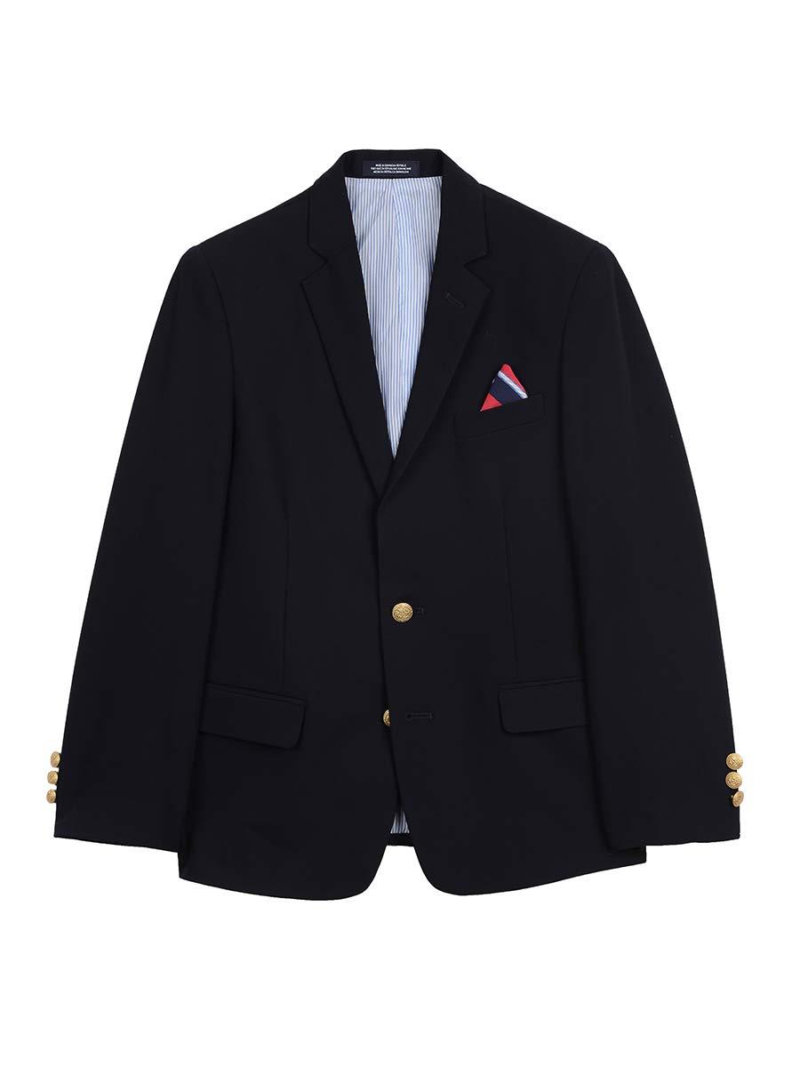 IZOD Boys' Big Brass Button Blazer Jacket, Blue Indigo, 14