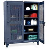 Strong Hold Ultra-Capacity Ventilated Cabinet - 60X24x78'' - Dark Gray