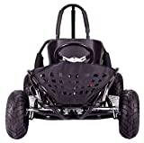 MotoTec 79cc Off Road Go Kart in Black