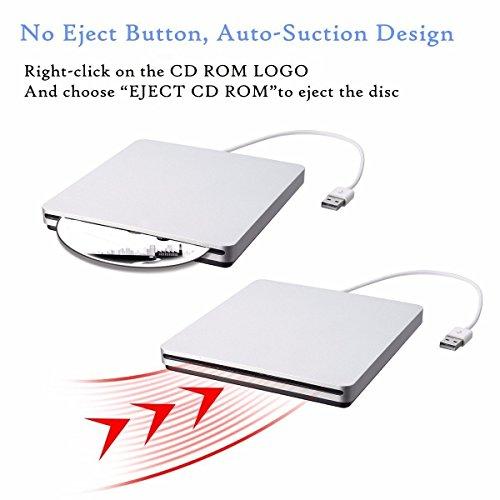 External CD DVD Drive,ONCHOICE USB 2.0 External Disc Optical Drive, Slim CD/DVD-RW Writer Player Burner for Windows OS, Laptop Desktop PC by ONCHOICE (Image #4)