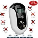 JAVADARA Ultrasonic Pest Repeller - Mosquito Repellent Electronic Mice Mouse Repellent & Insect Bug Repellent Pest Control Plug In for Mice,Rat,Roach,Bugs,Mosquito,Fly,Fleas,Spiders, Ants,Rodent