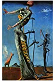 The Burning Giraffe Poster by Salvador Dali, Surrealism