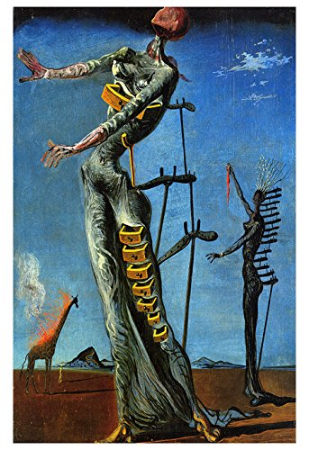 The Burning Giraffe Poster By Salvador Dali Surrealism