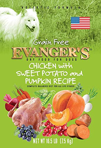 Evanger S 776418 Grain Free Chicken, Sweet Pot, Pumpkin Dry Dog Food, 33-Pound
