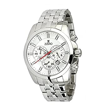 Uhr Zzero Herren zz3414b Quarz (Batterie) Stahl Quandrante weiß Armband Stahl
