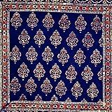 Tilonia Home: Decorative Pillow Cover - Blue & Red Fleur-de-Lis