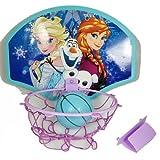 """Disney Frozen Elsa Anna Olaf 13.5 X 10"""" Basketball Set """"Ball, Hoop, Net & Door Hanger"""""""