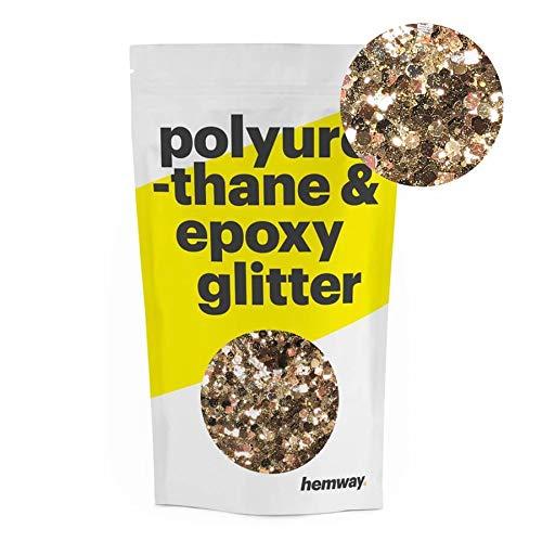 (Hemway | Mixed Chunky Polyurethane & Epoxy Glitter - Bronze Gold Black Tiger / 100g )