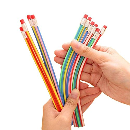 Foreverstore Colorful Bendy Soft Pencils With