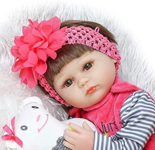 Reborn-poppen, herboren babypop Realistisch zacht schattig vroeg leren babyspeelgoed Kinderen 40 cm