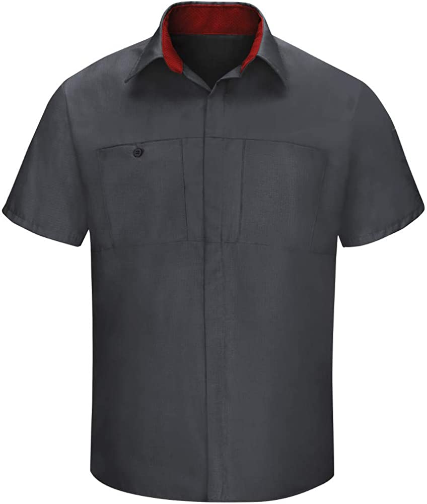 Red Kap Men's Performance Plus Shop Shirt with Oilblok Technology