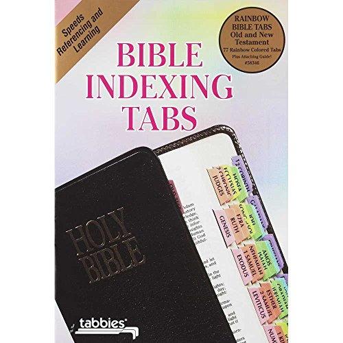 Rainbow Bible Indexing Tabs Old and New Testament Books of the Bible - 80 Tabs