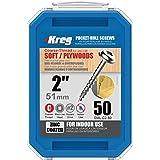 Kreg SML-C2-50 2-Inch Pocket Screws No.8 Coarse, Washer Head, 50 Count