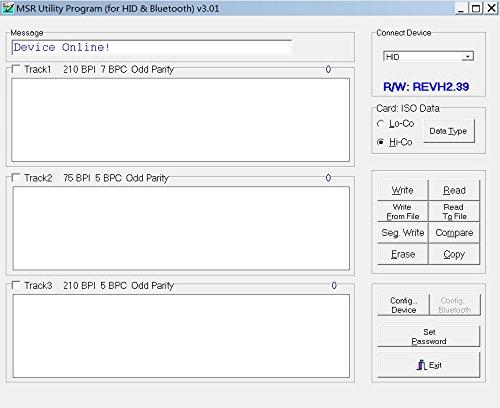 Deftun MSR605X USB-Powered Magnetic Card Reader Writer Encoder MSR206