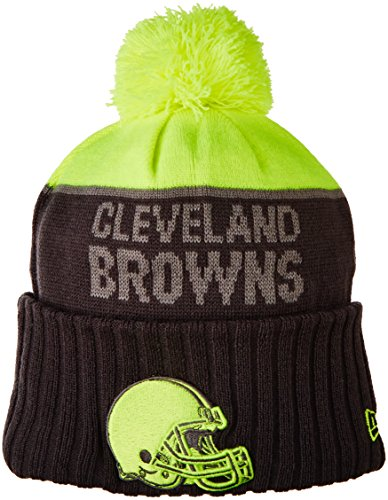Cleveland White Browns Fleece (NFL Cleveland Browns 2015 Upright Sport Knit, Upright Yellow/Graphite, One Size)