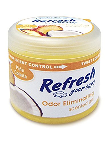 Refresh Scented Gel Can's 4.5 oz Car, Home & Office Air Freshener, Pina Colada ()