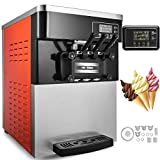 Cheap Happybuy Soft Ice Cream Machine Commercial 3 Flavors 2200W Commercial Ice Cream Maker Machine 5.3-7.4Gallons/H Perfect for Restaurants Snack Bar supermarkets (2200W)