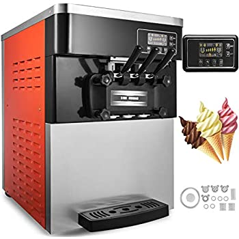 Happybuy Soft Ice Cream Machine 53 74Gallons H 3 Flavors Perfect For Restaurants Snack Bar Supermarkets 2200W
