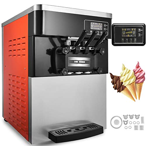 Happybuy Commercial Soft Ice Cream Machine 5.3-7.4Gallons/H 3 Flavors Perfect