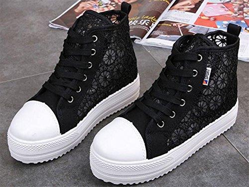 Satuki Kvinna Mesh Mode Sneakers Andas Sommarskor Svart