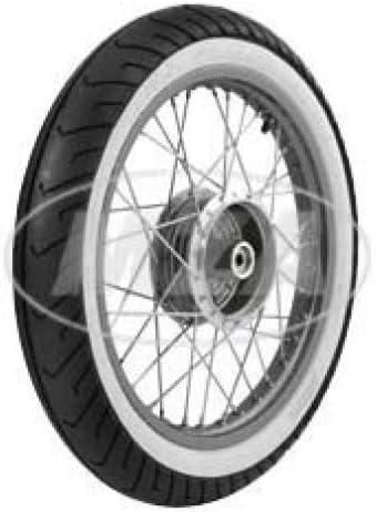 Simson de rueda completa – trasera – 1,5 x 16 pulgadas – Llanta de aluminio pulido, radios de acero inoxidable – Con mitas de color blanco pared Neumáticos MC2 montado en: Amazon.es: Coche y moto