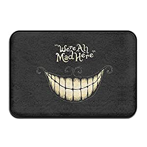 Gato de Cheshire cara sonriente Mad aquí antideslizante Felpudo para interior/exterior Felpudo (15.723.6()