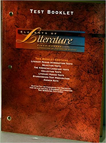 Test Booklet Elements Of Literature Literature Of The