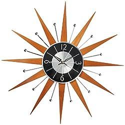 Telechron Wooden Starburst Clock