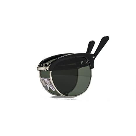 55063d9ab2 Persol Clubmaster Sunglasses in Black PO3132S 95 31 51 51 Green  Amazon.ca   Luggage   Bags