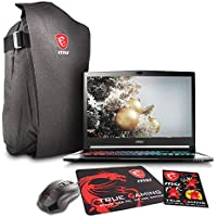 MSI GS73 STEALTH PRO-009 17.3 Gaming Laptop - Core i7-7700HQ Kabylake, 16GB RAM, 1TB HDD + 256 SSD, GTX 1050Ti, VR Ready, Win 10 + Gaming Bundle