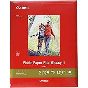 Canon 1432C003 Photo Paper Plus Glossy II 8.5″ x 11″ 20 Sheets