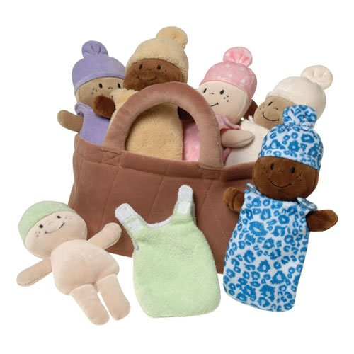 Basket of Babies MTC-13 Creative Minds Plush, 6 Piece Set For All Ages
