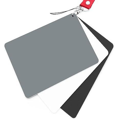 Anwenk Grey Card White Balance Card 18% Exposure Photography Card 5X4 Custom Calibration Camera Checker Video, DSLR and Film