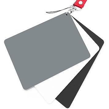 Anwenk Tarjeta gris Tarjeta de balance de blancos 18% Tarjeta de fotografía de exposición Calibración personalizada Camera Checker Video, DSLR y ...