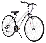 XDS Women's Cross 200 21-Speed Step-Through Hybrid Bicycle, 38cm, White
