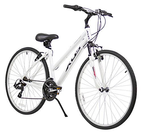 Where to Shop XDS Women's Cross 200 21-Speed Step-Through Hybrid Bicycle, 44cm, White