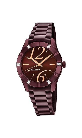 Calypso Reloj Análogo clásico para Mujer de Cuarzo con Correa en Plástico K5715/5: Calypso: Amazon.es: Relojes