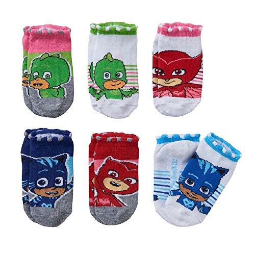 PJ Masks Girls No-Show Socks 6-Pack Gekko, Catboy & Owlette
