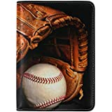 Retro Baseball Waterproof Boarding Pass Travel Passport Covers Holder Case Protector