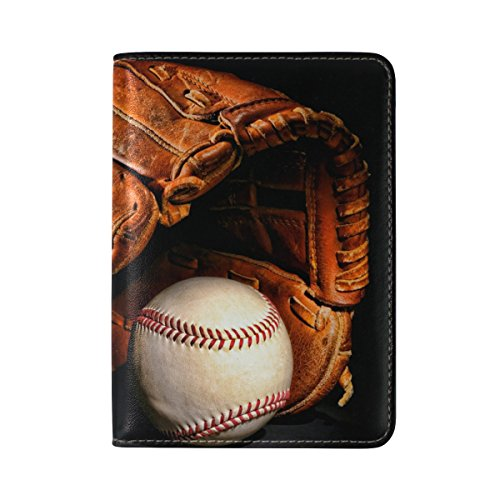 Price comparison product image Retro Baseball Waterproof Boarding Pass Travel Passport Covers Holder Case Protector