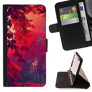 Jordan Colourful Shop - Red Forrest For LG Nexus 5 D820 D821 - Leather Case Absorci???¡¯???€????€???????????&A