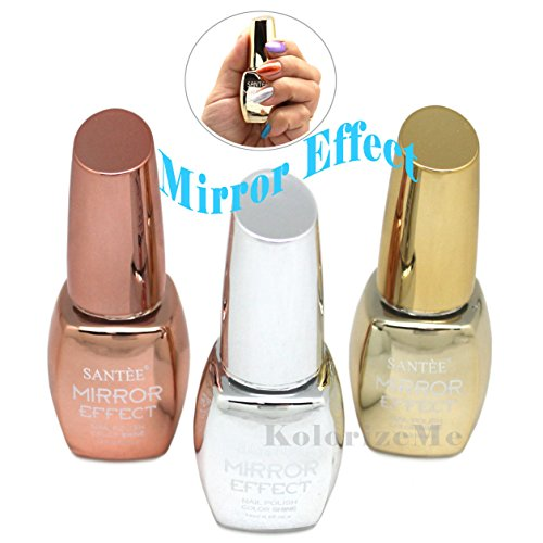 Santee MIRROR EFFECT Nail Polish full size 3pcs Set