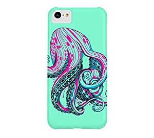 Curls iPhone 5c Aquamarine Barely There Phone Case - Design By Humans
