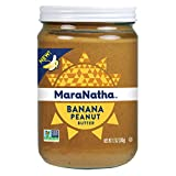 MARANATHA NATURAL FOODS, PNUT BUTTER, BANANA, Pack of 6, Size 12 OZ - No Artificial Ingredients GMO Free