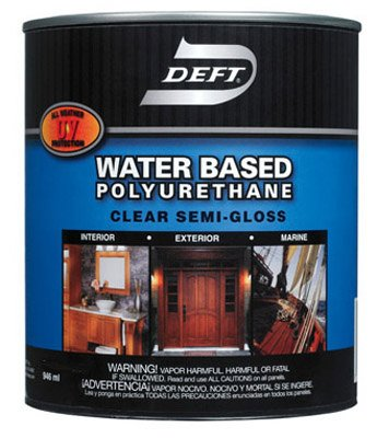 Deft Water Based Polyurethane Urethane Interior/Exterior Semi Gloss Clear 1 Gl 2 Hr