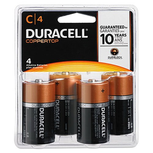 DURMN1400R4ZX - Duracell MN1400R4Z C Size Alkaline General Purpose Battery, 4 - C Batteries 4 Pack Cell